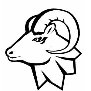 free sheep head coloring pages | Ram Head Coloring Sheet