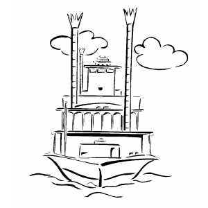 steamboat coloring pages | Riverboat Coloring Sheet