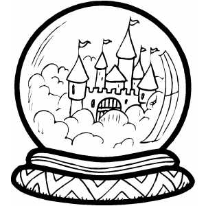 crystal ball coloring pages - photo#8
