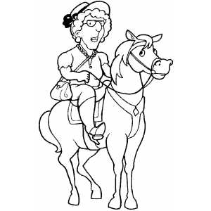 Old Man On Horse Coloring Sheet