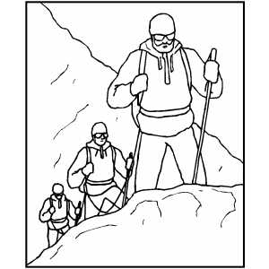 mountain climber coloring pages - photo#6