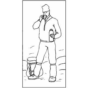 mountain climber coloring pages - photo#12