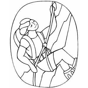 Rappeling Coloring Sheet