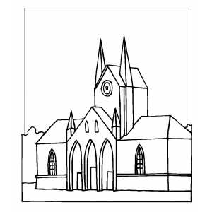 Cathedral coloring sheet for Cathedral coloring pages