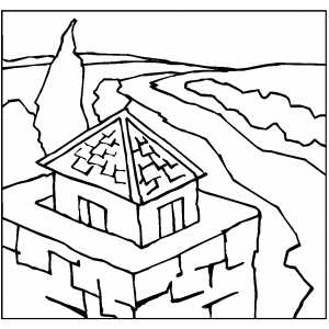 Tower The Road Free Coloring Sheet