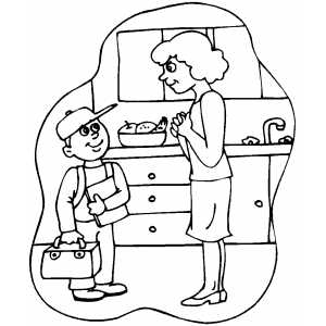 Off To School Coloring Sheet