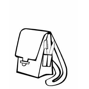 Bag With Books free coloring sheet