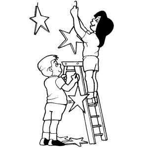 Childrens Hanging Decorations Coloring Sheet