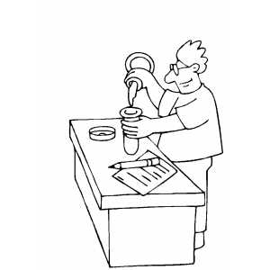 Experiments At Chemistry Lab Coloring Sheet