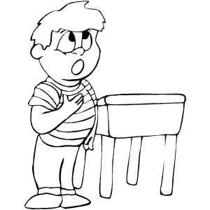 Pledge Of Allegiance Coloring Sheet