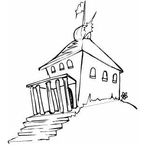 School building coloring sheet for School building coloring pages
