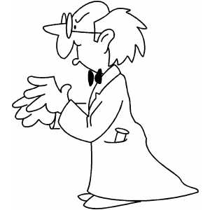 Scientist Coloring Sheet