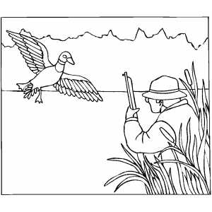 duck hunting coloring pages hunting for duck coloring sheet